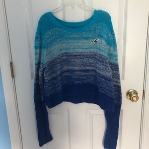 Ombré cropped sweater